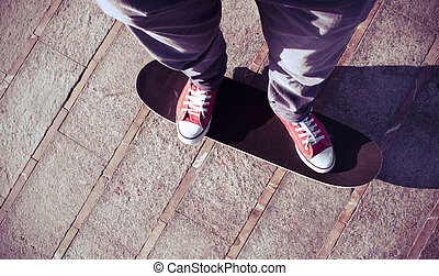 young man on a skate board