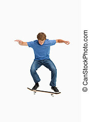 Young man on a skateboard