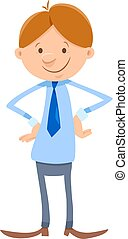 young man or businessman cartoon character