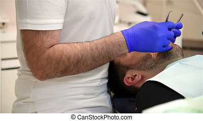 Man Patient On Dental Chair