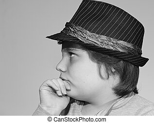 Young Man Ponders