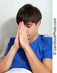 Young Man praying