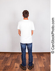 Young Man Rear View