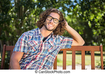 Young man relaxing in the park