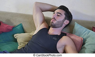 Young Man Resting on the Couch