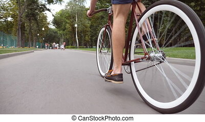 young man riding a vintage bicycle at the park road sporty guy cycling outdoor healthy active stock videos csp52970795 Leo Guy and Scorpio Girl Enjoy Compatibility. Burning Love Questions?