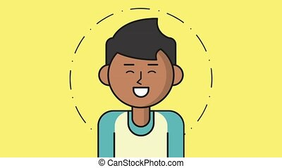 Young man smiling HD animation
