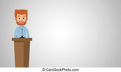 Young man speaking HD animation