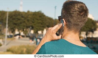Young Man Talking Phone