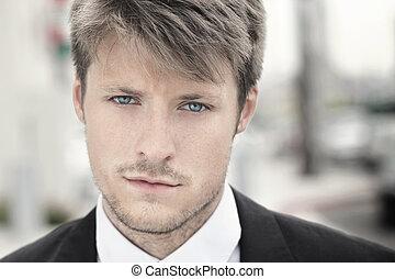 Young man up close