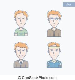 Young man vector avatar