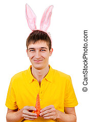 Young Man with Bunny Ears