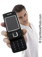 young man with cellphone
