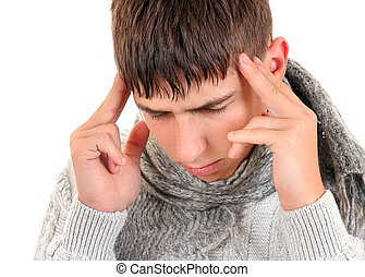 Young Man with Headache