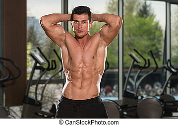 Young Man With Six Pack - Portrait Of A Physically Fit Man...