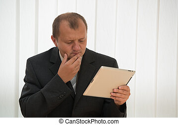 young man with tablet pc