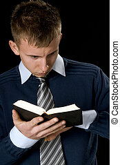 young man with the bible