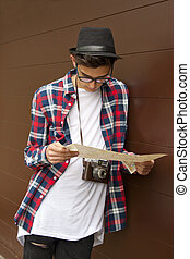 young man with the camera