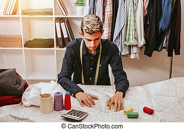 young man working in the shop