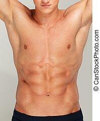 Young man's muscular torso