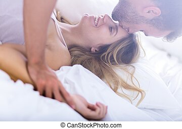 Young marriage during morning sex - Young passionate married...