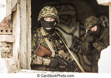 Young masked snipers