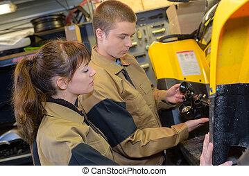 Young mechanics at work