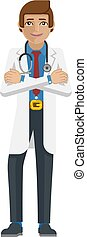 Young Medical Doctor Cartoon Mascot