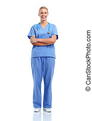 Young medical doctor woman. - Smiling medical doctor woman ...