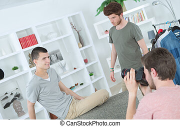 young men on a photoshoot