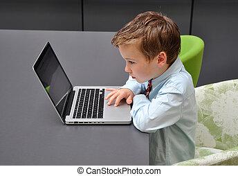 Young men preparing his job application