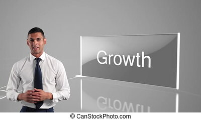 Young mixed race businessman talking - Animation of mixed ...