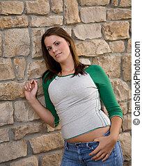 Young Model at Wall