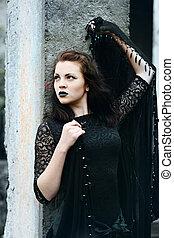 modern beautiful witch