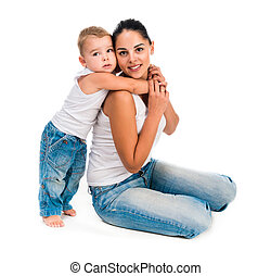 young mother with little son