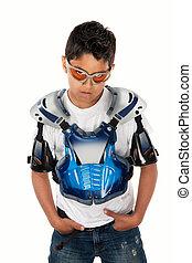 Young Motorcross Racer