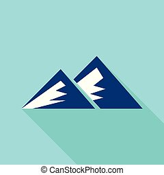Young mountain icon, flat style