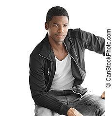 Young nice black man