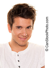 Young, nice man, friendly smile. Portrait