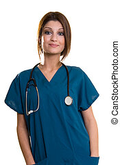 Young nurse - Confident pretty woman healthcare worker...