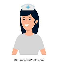 young nurse female worker character