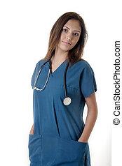 Young nurse in scrub