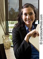 Young office worker - Portrait of young confident...