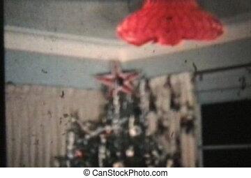 young párosít, -ban, karácsony, (1958)