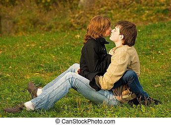 young párosít, szerelemben