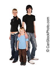 young parents and son