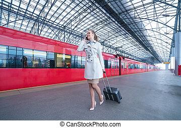 Young passenger