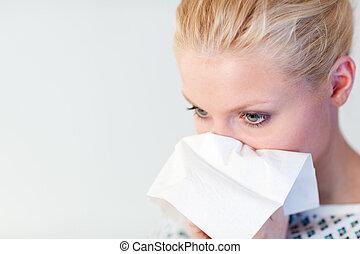 Patient with the flu