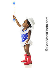Young Patriot Reaching for the Stars