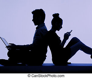 Young people addicted to the technology - Young people...